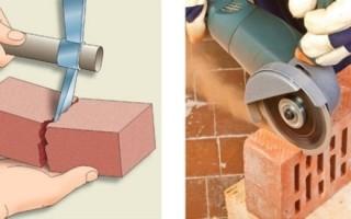Как и чем резать, колоть кирпич? Пошаговые инструкции