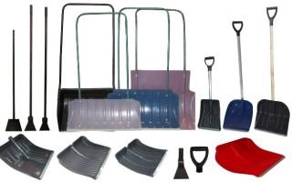Инструмент для уборки снега и льда. Все разновидности