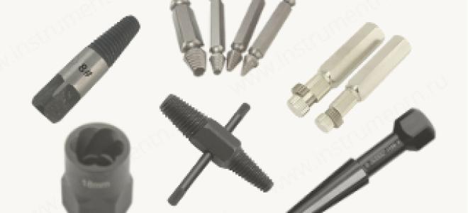 Экстрактор сломанных болтов ТОП-18 виды и характеристики