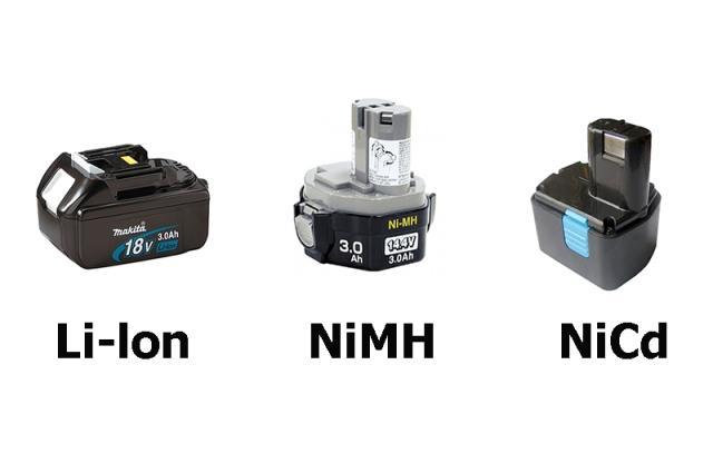 Виды аккумуляторных батарей