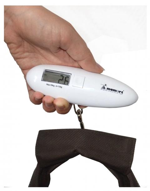 Безмен электронный в руке