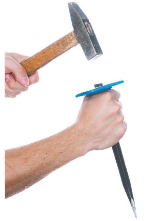 Схема работы зубилом