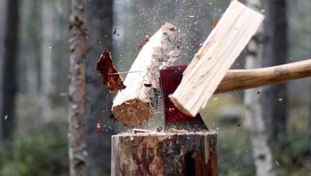 Колим дрова правильно