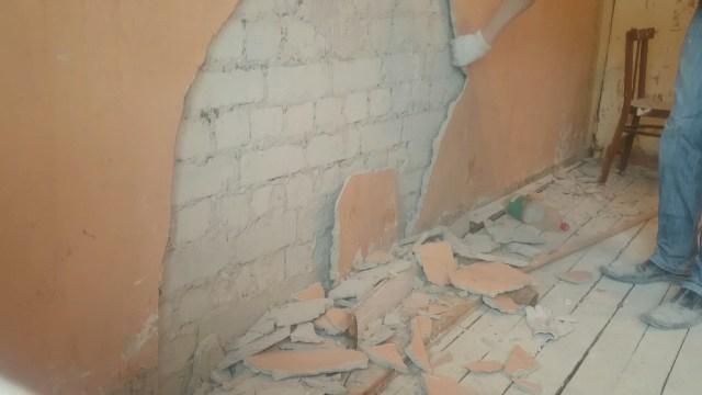 Стена со старой штукатуркой