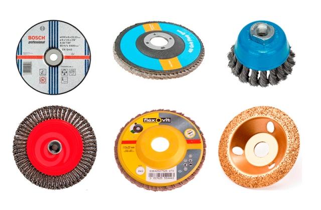 Разные диски для болгарки