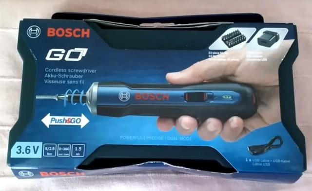"""Отвертка """"Bosch Go"""" в коробке"""