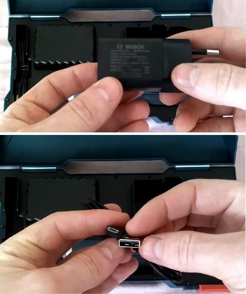 Блок питания и кабель для зарядки
