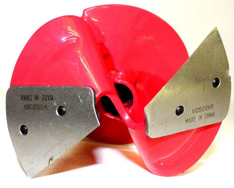 Сферические ножи на шнеке