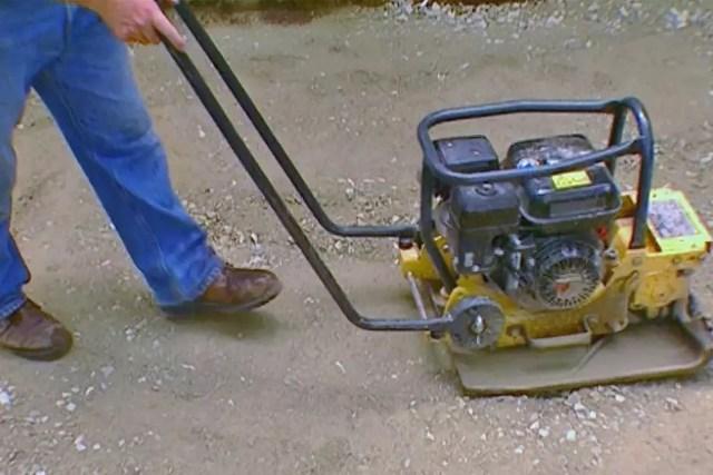Пример работы агрегата на грунте