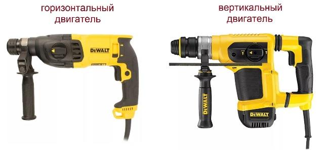 Модели с горизонтальным и вертикальным двигателем