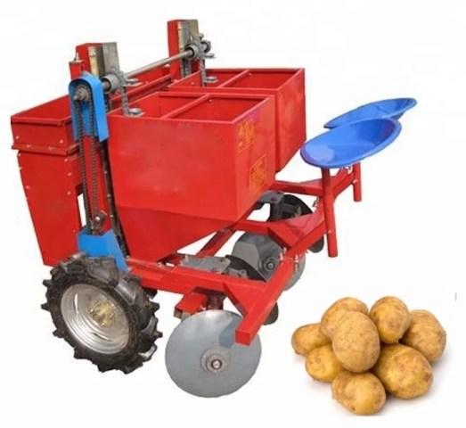Картофелесажалка с картошкой