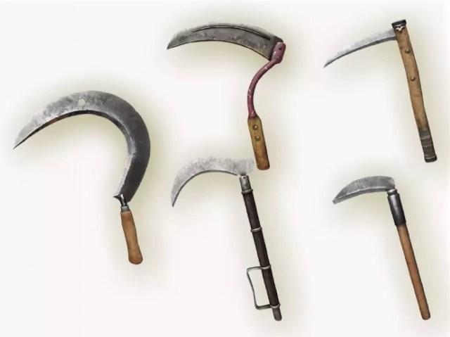 Разные модели серповидного инструмента
