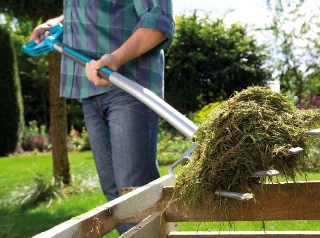 Пример уборки скошенной травы
