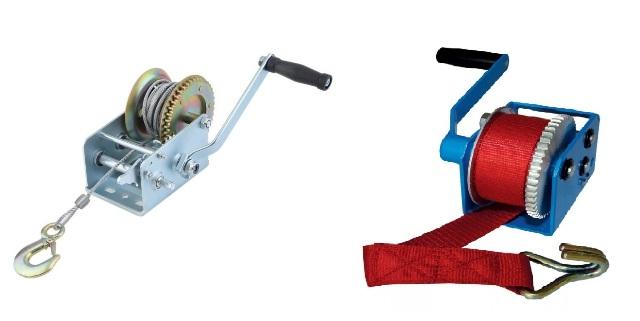 Выбор лебедки со стальным тросом или строп-лентой